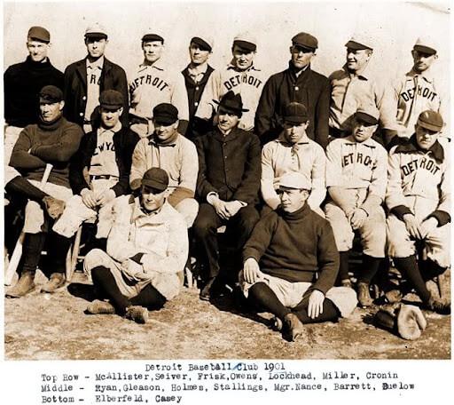 1901 Detroit Tigers Team